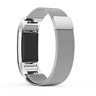 PINHEN Fitbit Charge 2 Strap Replacement Magnet Lock Milanese Loop Stainless Steel Bracelet Strap Band for Fitbit Charge 2