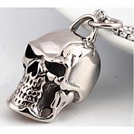 Heren Hangertjes ketting Sieraden Doodshoofdvorm Titanium Staal Modieus PERSGepersonaliseerd Punk-stijl Sieraden Voor Bruiloft