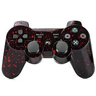manchado joystick sem fios SIXAXIS Bluetooth dualshock3 recarregável gamepad controlador para ps3