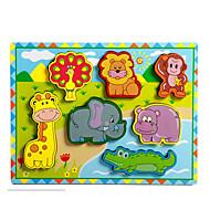Jigsaw Puzzle Fejlesztő játék / Fejtörő Építőkockák DIY játékok Elefánt / Bika / Ló 8 Fa Szivárvány Hobbi
