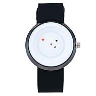 Xu™ 아가씨들 패션 시계 팔찌 시계 독특한 창조적 인 시계 석영 PU 밴드 빈티지 캐쥬얼 블랙 화이트 블랙