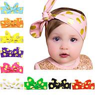 10 färger / set barn knutna pannband med guld prickar tryckta spädbarn hårband 10 färger