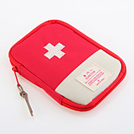 1 db Utazótáska Gyógyszeres doboz/tok utazáshoz Vízálló Porbiztos Hordozható mert Tárolási készlet Tartozékok sürgősségi esetekreOxford
