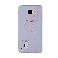 A samsung galaxy a8 (2016) a8 tok borító cseresznye macska festett mintázat tpu anyag telefonos tok a7 a5 a3 a510 a310
