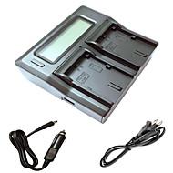 캐논 5d2 5d3 6D 7D의 7d2 60D 70D 카메라 batterys에 대한 자동차 충전 케이블 ismartdigi는 lpe6 LCD 듀얼 충전기