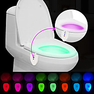 brelong 업그레이드 된 방수 자외선 sterlization 광 센서 인간에 의한 색상 변경 화장실 등