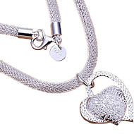 Necklace Pendant Necklaces Jewelry Wedding Party Daily Casual Heart Fashion Sterling Silver Women 1pc Gift Silver