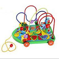 Minsker stress Pedagogisk leke Originale leker Leketøy Originale Sirkelformet Bil Tre Regnbue Til gutter Til jenter