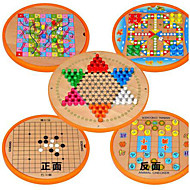 Board Game / Chess Game / Educational Toy For Gift  Building Blocks Leisure Hobby Circular / Square Wood2 to 4 Years / 5 to 7 Years / 8