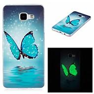 Für Im Dunkeln leuchtend / IMD Hülle Rückseitenabdeckung Hülle Schmetterling Weich TPU für Samsung A5(2016) / A3(2016)