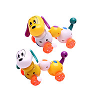 Wind-up Toy Novelty Toy Toys Novelty Dog Plastic Rainbow For Boys For Girls Random Color