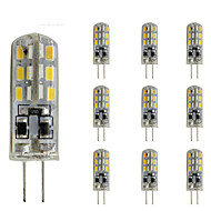 2W G4 Luces LED de Doble Pin Tubo 24 SMD 3014 144 lm Rojo / Azul / Verde Regulable / Decorativa DC 12 V 10 piezas