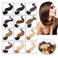 "100pcs 16-24 ""brasilianisches reines Haar u kippen Fusion Haarverlängerung Nagelspitze Haarverlängerungen Keratinschmelzverfahrens-001"