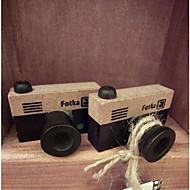 ヴィンテージカメラパターン木製スタンプ(ランダム色)