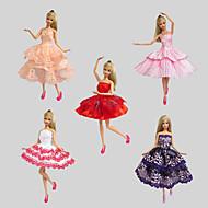 Fête / Soirée Robes Pour Poupée Barbie Rouge / Violet / Blanc / Orange / Rouge vin Lace Robes Pour Fille de Doll Toy