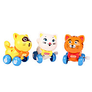 Wind-up Toy Novelty Toy Toys Novelty Cat Plastic White Yellow Orange For Boys For Girls Random Color
