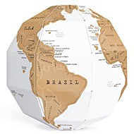 bricolaje creativo conjunto de cero globo 3d estéreo mundo mapa del mundo mundo vertical regalo