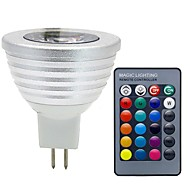 3W GU5.3(MR16) Spoturi LED MR16 1 COB 300 lm RGB Decorativ Reglabil Telecomandă DC 12 V 1 bc