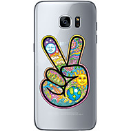 For Samsung Galaxy S6 Edge Plus S6 S7 Edge S7 Gesture victory Soft Material For Compatibility TPU