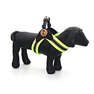 犬用品 カラー ハーネス 反射 調整可能/引き込み式 高通気性 格子柄 グリーン グレー ローズピンク メッシュ PUレザー
