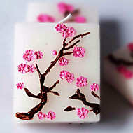 3pc Sakura Cherry Blossoms Candle For Wedding Party Baby Shower Birthday Souvenirs Gifts Favor