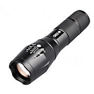 LED-Ficklampor LED 800 Lumen Läge Cree T6 Lithiumbatteri Kompakt storlek Enkel att bäraCamping/Vandring/Grottkrypning Vardagsanvändning