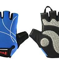 BODUN /SIDEBIKE® スポーツグローブ フリーサイズ サイクルグローブ 夏 サイクルグローブ 耐摩耗性 耐久性 保護 フィンガーレス メッシュ サイクルグローブ ライトブルー サイクリング