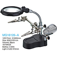 3.5/12X65 mm Magnifiers/Magnifier Glasses High Definition LED Desktop Equipment & Tools General use Jewelry Reading Watch RepairFully