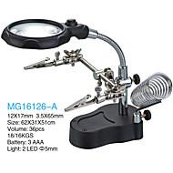 3.5/12X65 mm Suurennuslasit Teräväpiirto LED Työpöytä Kellonkorjaus Laitteet ja työkalut Yleiskäyttö Korut Lukemiseen Täysin pinnoitettu