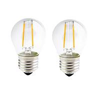 2PCS 2W E27 LED Filament Bulbs G45 2 COB 200 lm Warm White Dimmable AC 220-240 AC 110-130 V