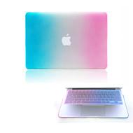 """høj kvalitet hårdt beskyttende matte gradient farve hele kroppen tilfældet + TPU tastatur cover til 13,3 """"/15.3"""" macbook pro retina"""