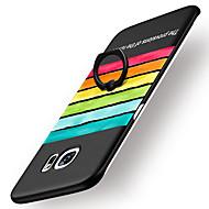 Varten Sormuksen pidike Himmeä Kuvio Etui Takakuori Etui Piirros Kova PC varten Samsung S7 edge