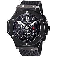 MEGIR Men's Women's Unisex Sport Watch Military Watch Fashion Watch Wrist watch Calendar Noctilucent Swiss Designer Quartz Genuine Leather