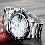 SKONE Muškarci Modni sat Ručni satovi s mehanizmom za navijanje Kvarc Kalendar Nehrđajući čelik Grupa Šarm Luksuzno Srebro