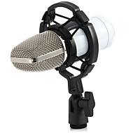 profissional bm700 condensador KTV microfone cardióide estúdio de áudio pro mic gravação da voz