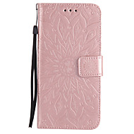 For Samsung Galaxy Note 5 Note 4 Note 3 PU Leather Material Sun Flower Pattern Embossed Phone Case