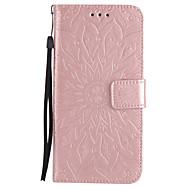ל ארנק מחזיק כרטיסים עם מעמד נפתח-נסגר מובלט תבנית מגן גוף מלא מגן מנדלה קשיח דמוי עור ל Samsung Note 5 Note 4 Note 3