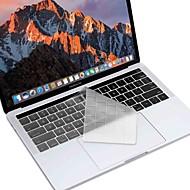 2016新しいMacBook用xskn®ヨーロッパやアメリカのバージョン超薄型TPUのキーボードの皮は私たち網膜タッチバー/ EUのレイアウトで13.3 / 15.4をプロ