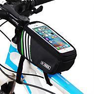 B-SOUL Sykkelveske 1.8LVanntett Vesker til sykkelramme Bananveske Anvendelig iPhone Holder Berøringsskjerm Sykkelveske Terylene