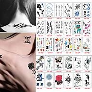 30 Tatuagens Adesivas Outros não tóxicaBebê Criança Feminino Masculino Adolescente Tatuagem Adesiva Tatuagens temporárias