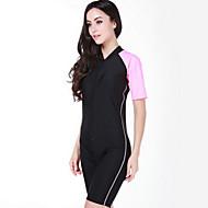 SBART Damen Dive Skins Neopren-Shorty UV-resistant Handyhülle für das ganze Handy Chinlon Taucheranzug KurzarmTauchanzüge Schutz gegen
