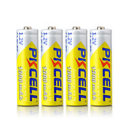 pkcell rechargeable aa 1300mAh 1.2v batterie nimh pack 4