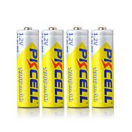 PKCELL oppladbare AA 1300mAh 1.2V NiMH batteri 4 stk