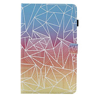 For Samsung Tab T580 Card Holder with Stand Flip Pattern Case Full Body Case Geometry Hard PU Leather for Tab E 9.6 Tab E 8.0 Tab A 9.7 Tab A 8.0