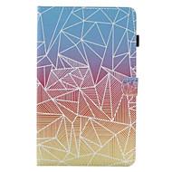 Pour Porte Carte Avec Support Clapet Motif Coque Coque Intégrale Coque Forme Géométrique Dur Cuir PU pour SamsungTab E 9.6 Tab E 8.0 Tab