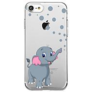 Varten Ultraohut Läpinäkyvä Kuvio Etui Takakuori Etui Elefantti Pehmeä Kumi varten AppleiPhone 7 Plus iPhone 7 iPhone 6s Plus/6 Plus