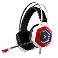 xiberiaのV11ゲームのイヤホンは、PCゲーマーのヘッドフォンにマイクで超低音7.1 usbの振動ヘッドホンを輝く光ステレオヘッドバンドを率い