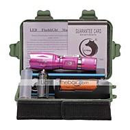 Luci Torce LED Kit per torce LED 2000 Lumens 5 Modo Cree XM-L T6 18650 AAA Messa a fuoco regolabile Gancio