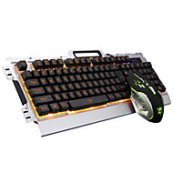 Wired LED Backlit illuminated Multimedia Ergonomic Usb Gaming Keyboard Gamer  3200DPI 6 Buttons Optical Gaming Mouse
