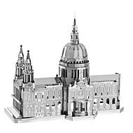 Zabawki 3D Metalowe puzzle na prezent Klocki Model / klocki Znane budynki Architektura Metal 14 lat i powyżej Różowy Zabawki